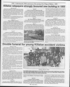 A trip down memory lane, produced by the Eganville Leader to commemorate Killaloe's centennial, in August 2008. Page 50