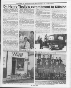 A trip down memory lane, produced by the Eganville Leader to commemorate Killaloe's centennial, in August 2008. Page 44