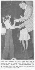 The 4-H Club has a long, proud history in Killaloe and area. Betty Mullin Collection.