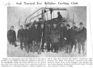 Sod turning of Killaloe Curling Club. Betty Mullin Collection.