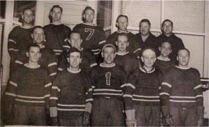 Photo of Killaloe Senior Hockey team 1949. Killaloe Millennium Museum Exhibit.