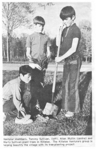 Young Killaloe Ventures hard at work 1972. Betty Mullin Collection.