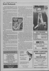 The Laker Issue 18 From, Friday September 16,1988.
