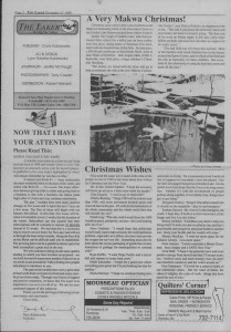 The Laker Issue 32 From, Friday, December 23, 1988.