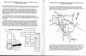 Roman Catholic Cemeteries Of Raglan Township and Lyndoch Township in Renfrew County, Ontario