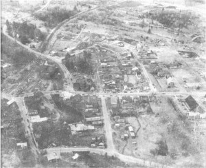 Aerial photo from 1974. Pearl Murack Collection.