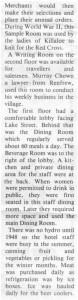 This story about the Beresford Hotel was written by Corinne Higgins and published in Barry's Bay This Week April 1st, 1987. This is part 6 of 9. Betty Mullin Collection.