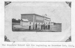 Photo of some of the construction crew of St. Andrew's Separate School 1901. Pearl Murack Collection