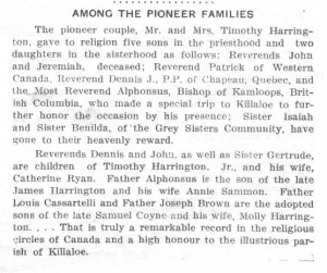 history of st.andrews parish. among pioneer families.bm