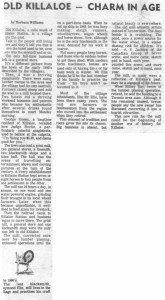 This collection of stories and photos was printed in the 70's in Barry's Bay This Week newspaper. Part 2 of 10. Betty Mullin Collection.