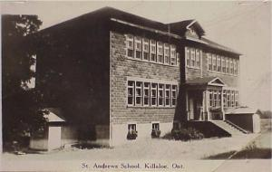 St. Andrew's Separate School before it was destroyed by fire. Bennie Afelskie Collection.