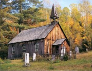 Photo of Rockingham Church by Gus Zylstra. Friends of Rockingham Church.