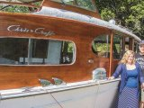 Vintage cabin cruiser an eye-catching sight