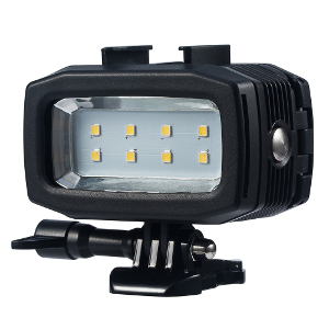 action mounts underwater camera light