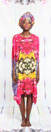Posie Print Sharjah Dress