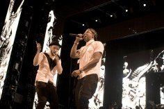 Performing with Jay Z during their tour