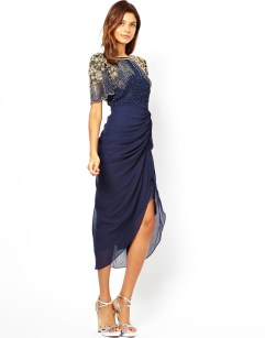 Virgos Lounge €128 - Denise Midi Dress with Embellished Shoulder