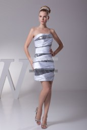 €139 - Beautiful Sweetheart Short Silver Evening Dresses http://www.fannycrown.com/beautiful-sweetheart-short-silver-evening-dresses.html