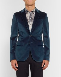 PS by Paul Smith €505 - Petrol Grograin-Trimmed Velvet Blazer http://bit.ly/1MEshny