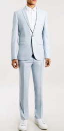 Topman €150 - Light Blue Skinny Fit Suit Jacket http://bit.ly/1ReiVAs