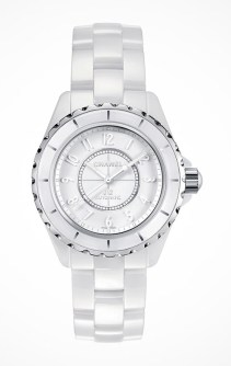 Chanel J12 White €4,006/£3,325 - http://www.thewatchgallery.com/shop/chanel-j12-white-quartz-ladies-watch-h3442.html
