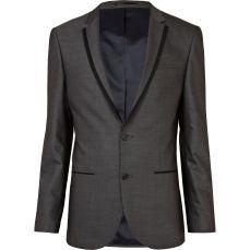 Grey Contrast Suit Jacket €80 - http://eu.riverisland.com/men/suits/slim-fit/grey-contrast-slim-suit-jacket--260253