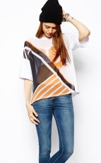 ASOS €18.26 - Tunic with Woven Front and Splice Number Print http://tinyurl.com/mgt55ky
