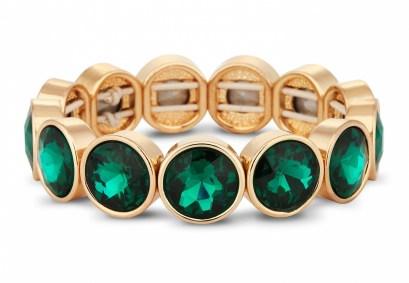 Jon Richard €30 - Green crystal circular stone stretch bracelet http://bit.ly/Vvdjuy