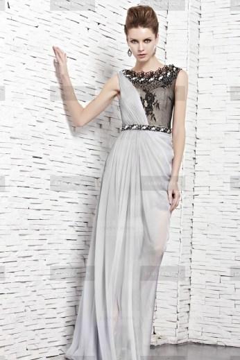 Fanny Crown €459 - Smart Lace Bateau Silver Party Dress http://bit.ly/1zhD019