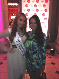 Myself with Monica Walsh, Mrs. Ireland Universe 2014 who wears Eastern European fashion