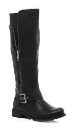 River Island €70 - Zip Detail Knee High Boots http://bit.ly/ZlKrXL