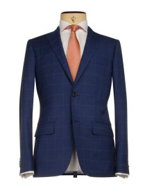 Louis Copeland €799 - Tailored Suit in Big Blue Check with Peak Lapel http://bit.ly/1qRY4Dv