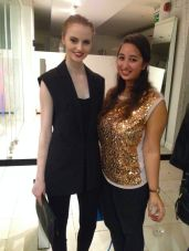 Sarah Kennedy & myself at Marion Cuddys Fashion & Fizz