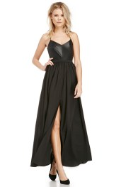Blaque Label @ Dailylook €138 - Z Pack Vegan Leather Maxi Dress http://bit.ly/1w7mO28