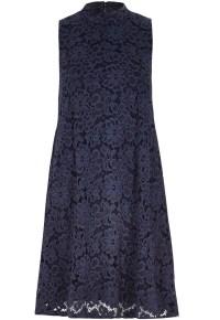 River Island €55 - Navy Lace Turtle Neck Swing Dress http://bit.ly/1CptyZ7