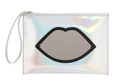 Lulu Guinness €128.25 - Medium Hologram Perspex Lips Pouch http://bit.ly/1yGImA0