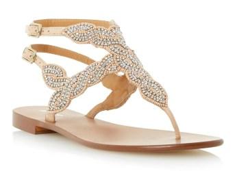 Dune €85 - Karper Beaded Toe Post Sandals http://bit.ly/1MUnDCs
