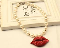 YesStyle €8.10 - Rhinestone Faux-Pearl Necklace http://bit.ly/1zf55aa