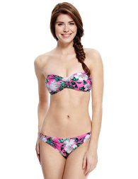 Marks & Spencer from €11 - Limited Edition Halterneck Padded Floral Bandeau Bikini Top http://bit.ly/1ar7DsS Hipster Bottoms http://bit.ly/1zM15uJ