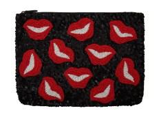 Santi €130/£98 - Black Lips Sequined Clutch Bag http://bit.ly/1DERgBx