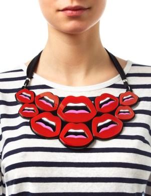 Yazbukey €220 - Red Plexiglass Le C'est Ahh Necklace http://bit.ly/1Cv7mkc