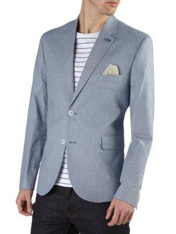 Light Blue Texture Cotton Blazer €90 http://bit.ly/1OmLawB