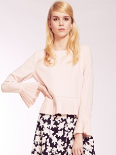 Dahlia €58.99/£42 - Charlotte Pink Blouse with Pleat Hem and Cuffs http://bit.ly/1AHMa4n