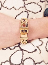 Dahlia €30.90/£22 - Gold Chunky Curb Chain Buckle Bangle http://bit.ly/1G8C80L