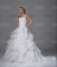 Fanny Crown €439 - Glamorous Spaghetti straps Long White Wedding Dress http://bit.ly/1LvzlFx