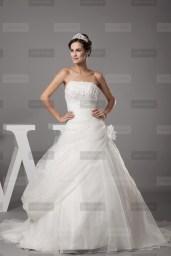 Fanny Crown €419 - Superb Strapless Long Ivory Wedding Dress http://bit.ly/1ByZDvl