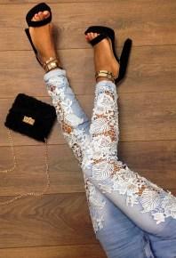 Pink Boutique €50 - Averie Low Rise Lace Cut Out Jeans http://bit.ly/1JAh1J9