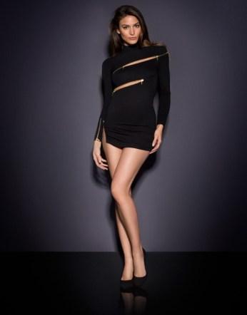 Agent Provocateur €475 - Maxene Zip Dress http://bit.ly/1Kq0988