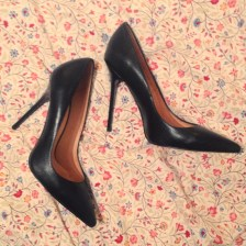 Buffalo €125 - Riviera Pointed Court Black Leather http://bit.ly/1QSo5p4