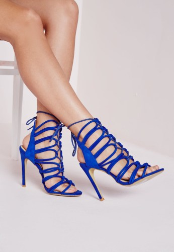 Missguided €49 - Rope lace up heeled gladiator sandals cobalt http://bit.ly/1Un7CuJ